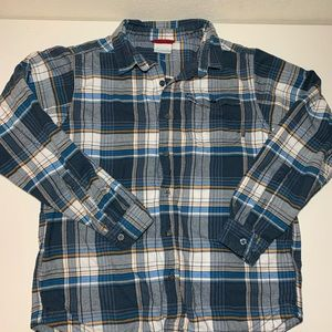 Columbia Lined Flannel Button Down Shirt Large